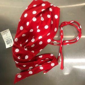 Hot Topic XL red and white polka dot bikini top